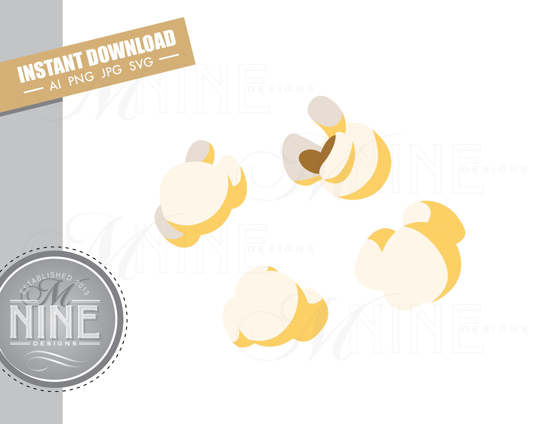Popcorn Kernels Clip Art Downloads Vector Popcorn Kernels Ai Etsy Clip Art Downloadable Art Photo Album Scrapbooking