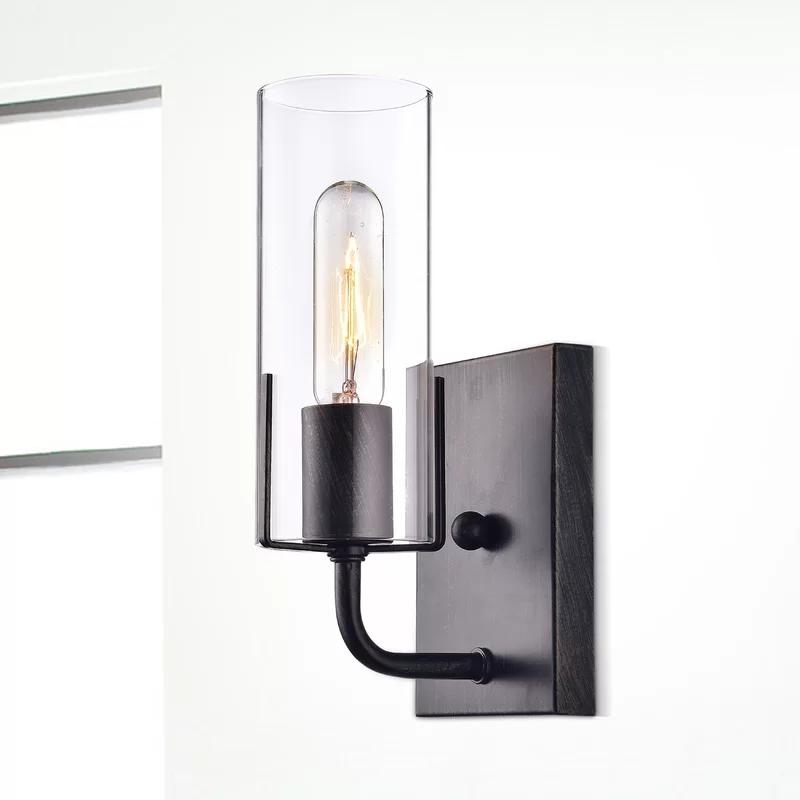 Rosemond 1 Light Armed Sconce In 2020 Bathroom Sconce Lighting Hallway Sconces Sconces