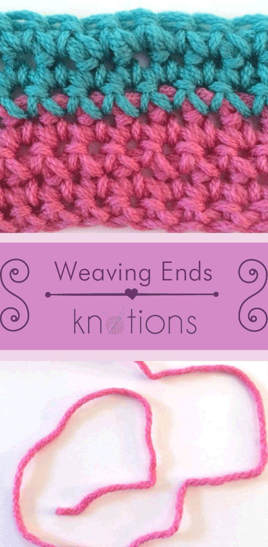 Weaving in Ends in Crochet A Tutorial in 2020 (With
