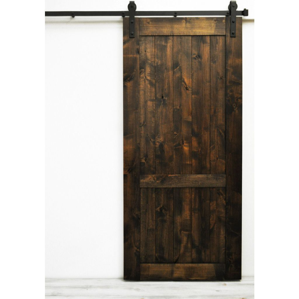 This item includes a fully assembled barn door and a complete