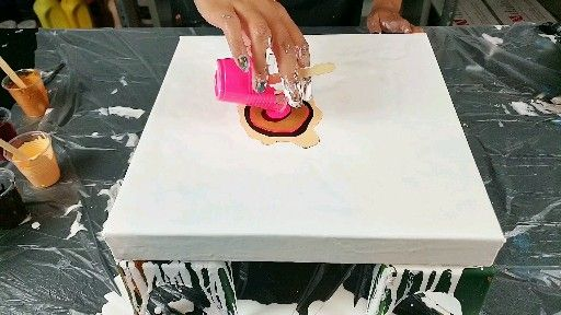 Photo of Hot pink! Dutch pour with arteza, just paint and water!