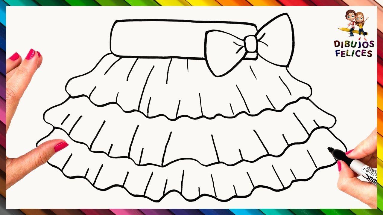 Como Dibujar Una Falda Dibujo Facil De Falda Para Chicas Dibujo Facil Faldas Para Ninas Ropa Dibujo
