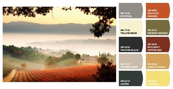 Tuscan Color Palette   Interior Color Schemes for Global Style: Italy