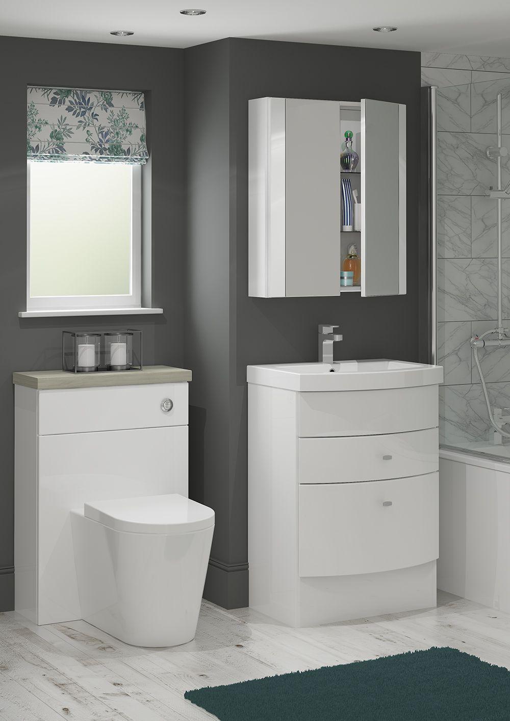Lovely Slimline Floor Standing Bathroom Cabinets