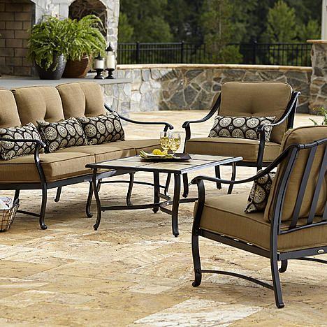 La Z Boy Outdoor Landon 4 Piece Seating Set Outdoor Furniture