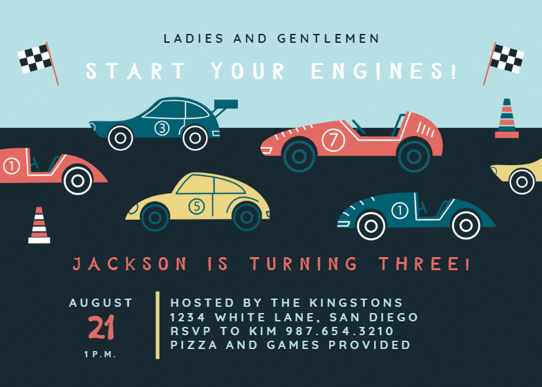 Racing Cars Birthday Invitation Template Free Greetings Island Cars Birthday Invitations Car Birthday Party Invitations Race Car Birthday