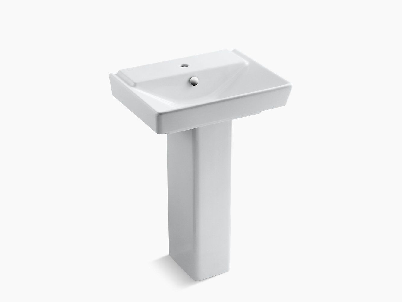 K 5152 1 Reve 23 Inch Sink Basin And Pedestal With Single Hole