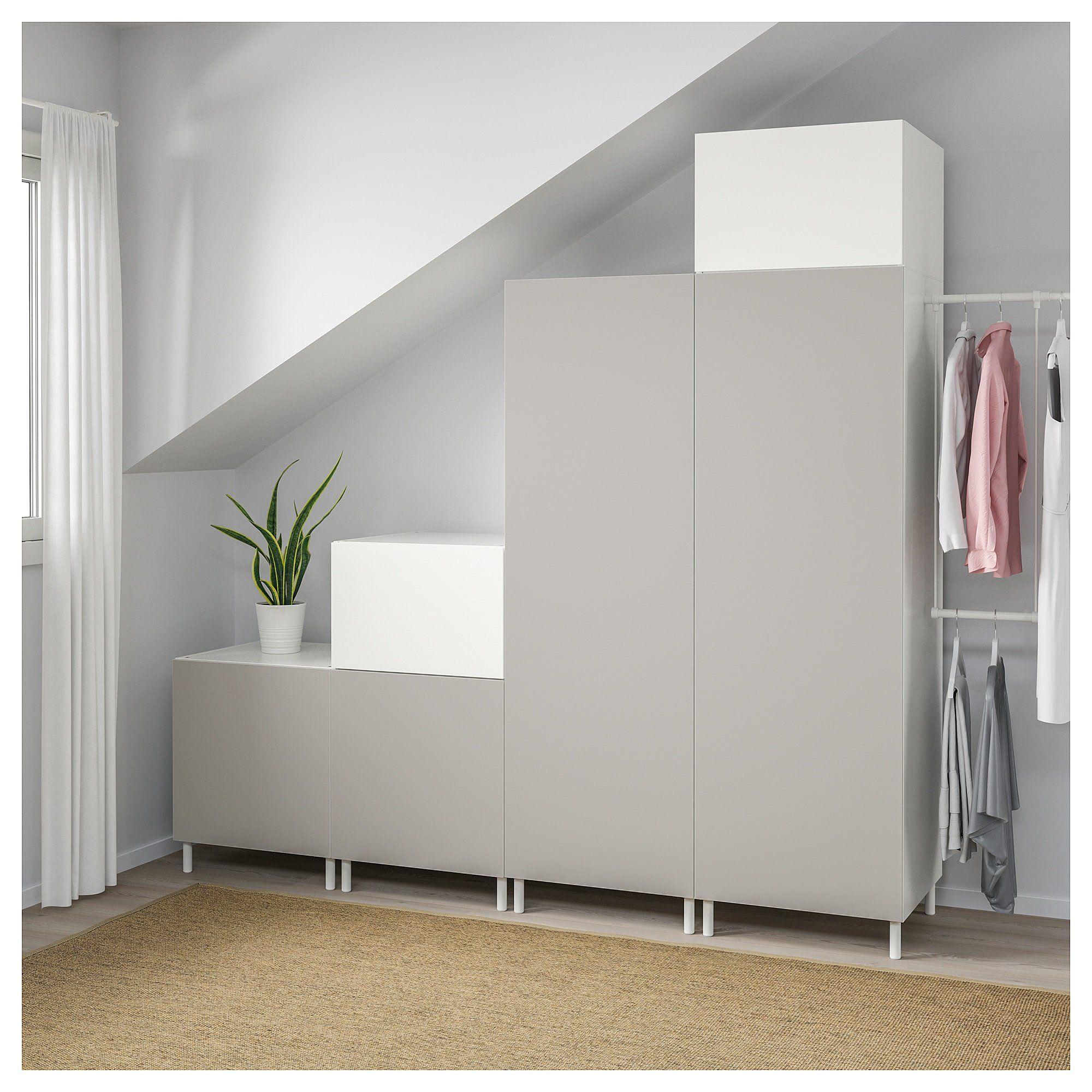 Platsa Kleiderschrank Weiss Fonnes Skatval Hellgrau Ikea In