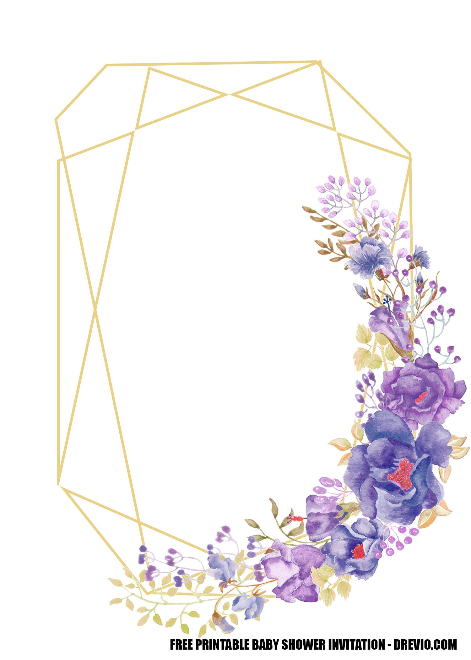 FREE Lavender Rose Wedding Invitation Templates  DREVIO