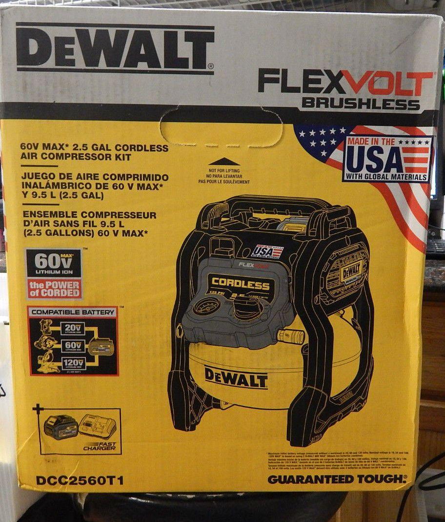 air compressors 30506 dewalt dcc2560t1 flexvolt 60v max 2 5 gallon cordless air compressor kit buy it now only 279 95 on ebay compressors dewalt  [ 912 x 1069 Pixel ]