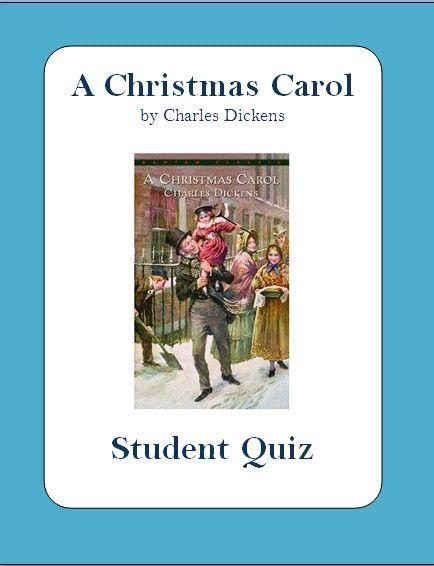 A Christmas Carol by Charles Dickens - Full Book Quiz with Answer Key | Christmas carol ...
