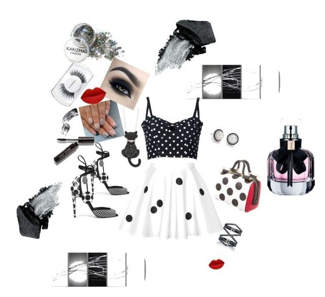 """Polka Dot Life"" by raq-house-styles on Polyvore featuring Dolce&Gabbana, Pierre Hardy, Eva Fehren, Blue Nile, MAC Cosmetics, Bobbi Brown Cosmetics, Gorgeous Cosmetics and Yves Saint Laurent"