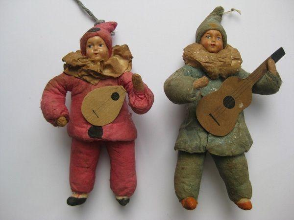 Ватные елочные игрушки