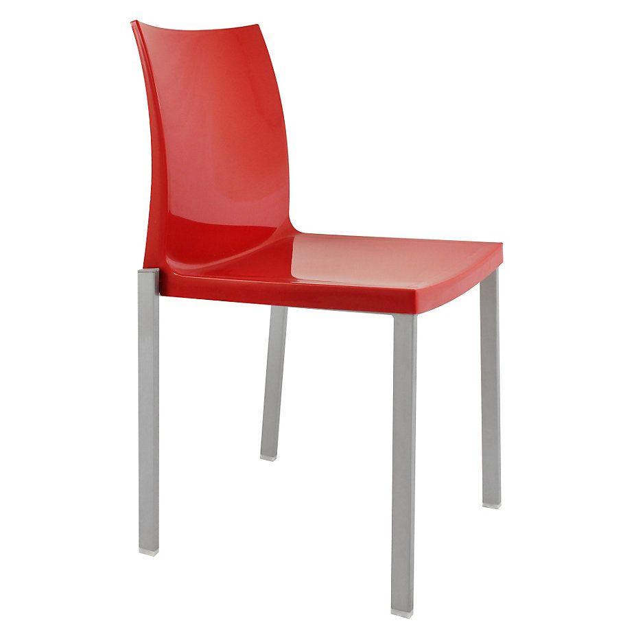 Gen rico silla fija acero pp rojo for Sillas ergonomicas sodimac