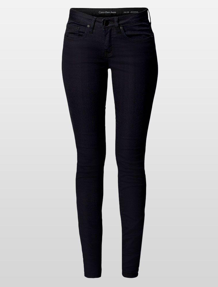 c88889f1d Calça Calvin Klein Jeans feminina jegging, cintura alta, perna super justa,  five pockets, bolso traseiro com bordado personalizado, botão de metal com  logo ...