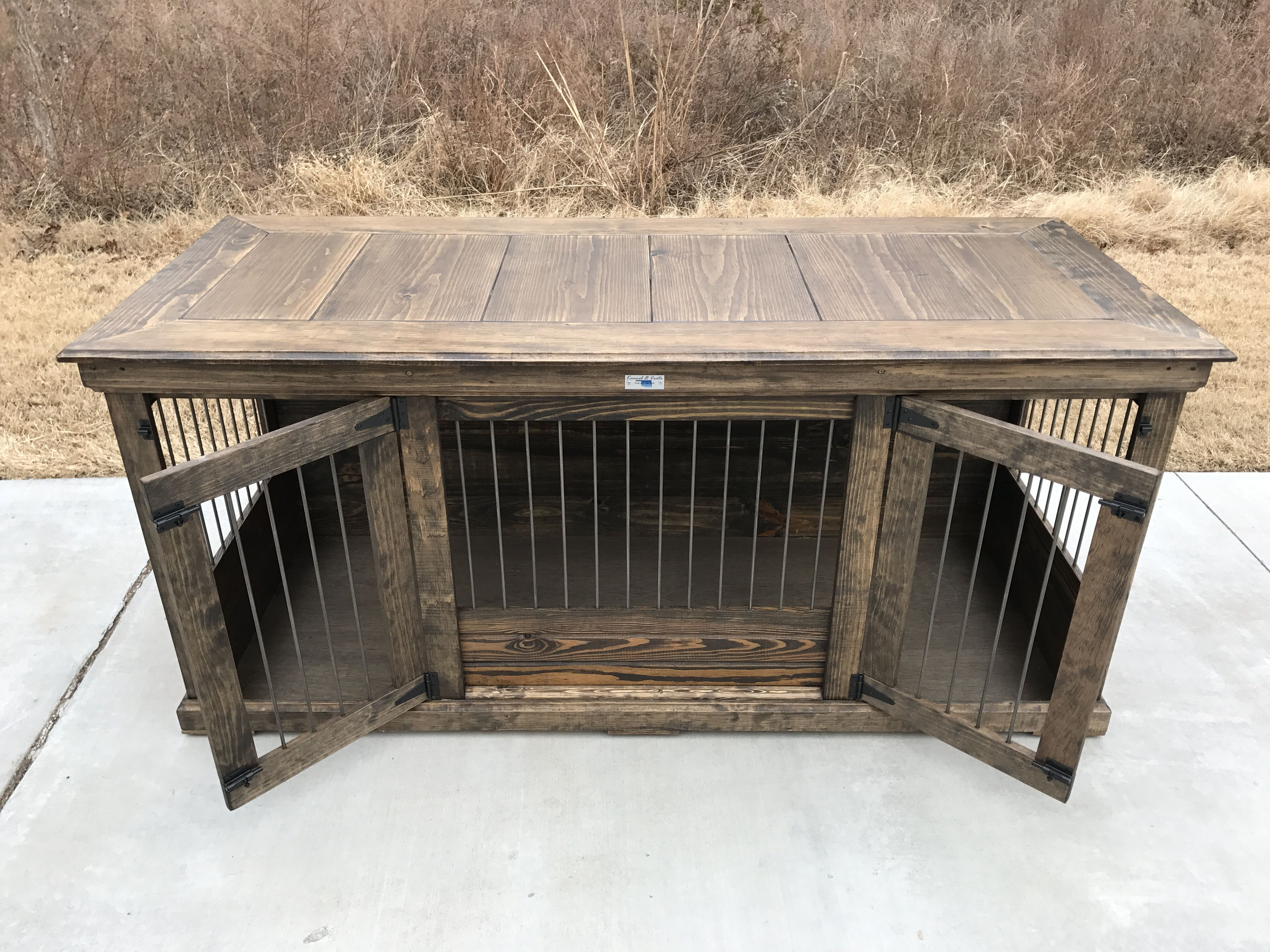 rustic & classic piece to replace your dogs' wire crate. perfect
