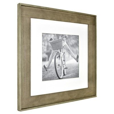 12 X12 With Mat For 8 X8 Photo Plank Wood Wall Frame Brown Threshold Frames On Wall Wood Wall White Picture Frames