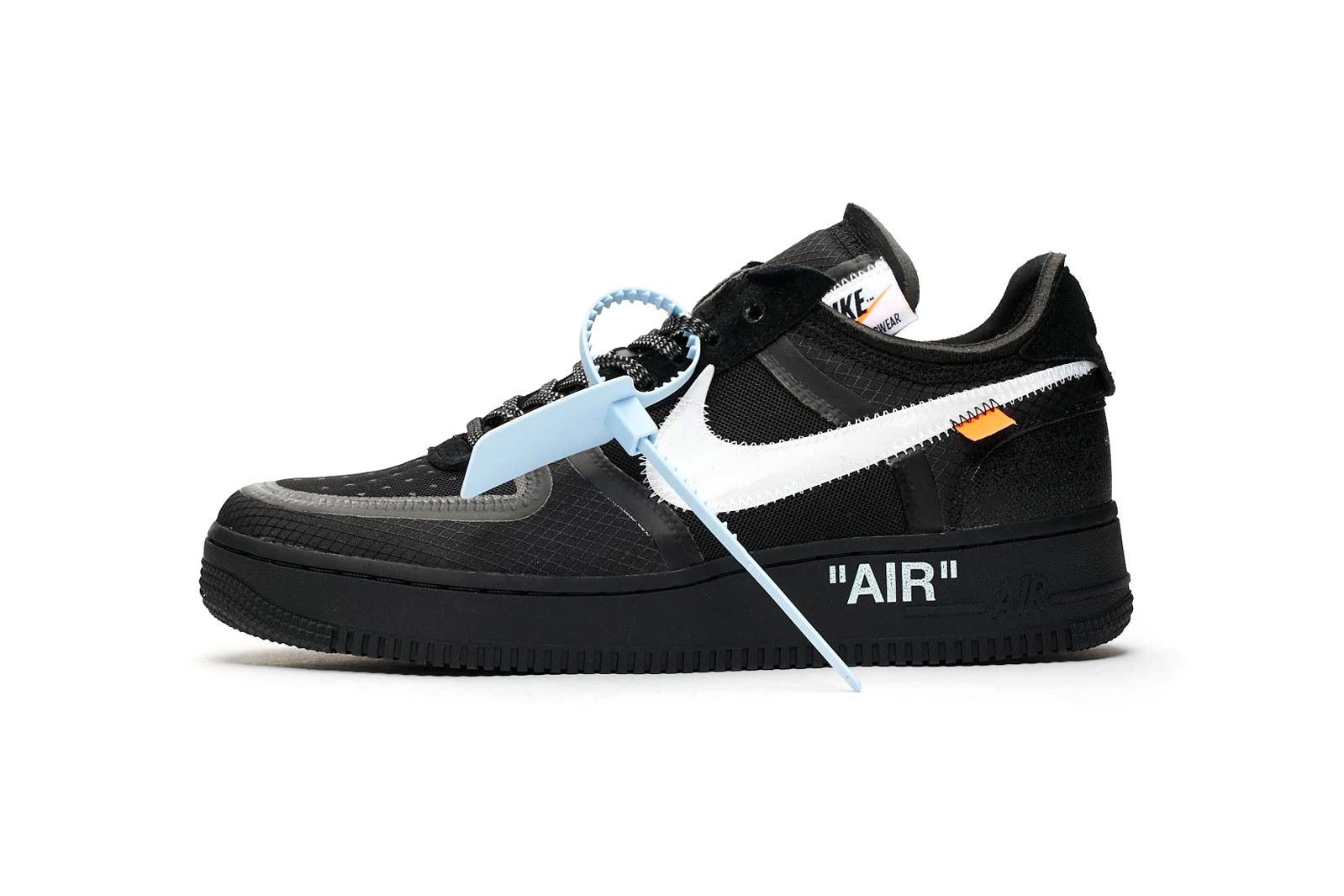 A Clean Look At The Off White X Nike Air Force 1 Black White Nikes Nike Air Force Nike Air