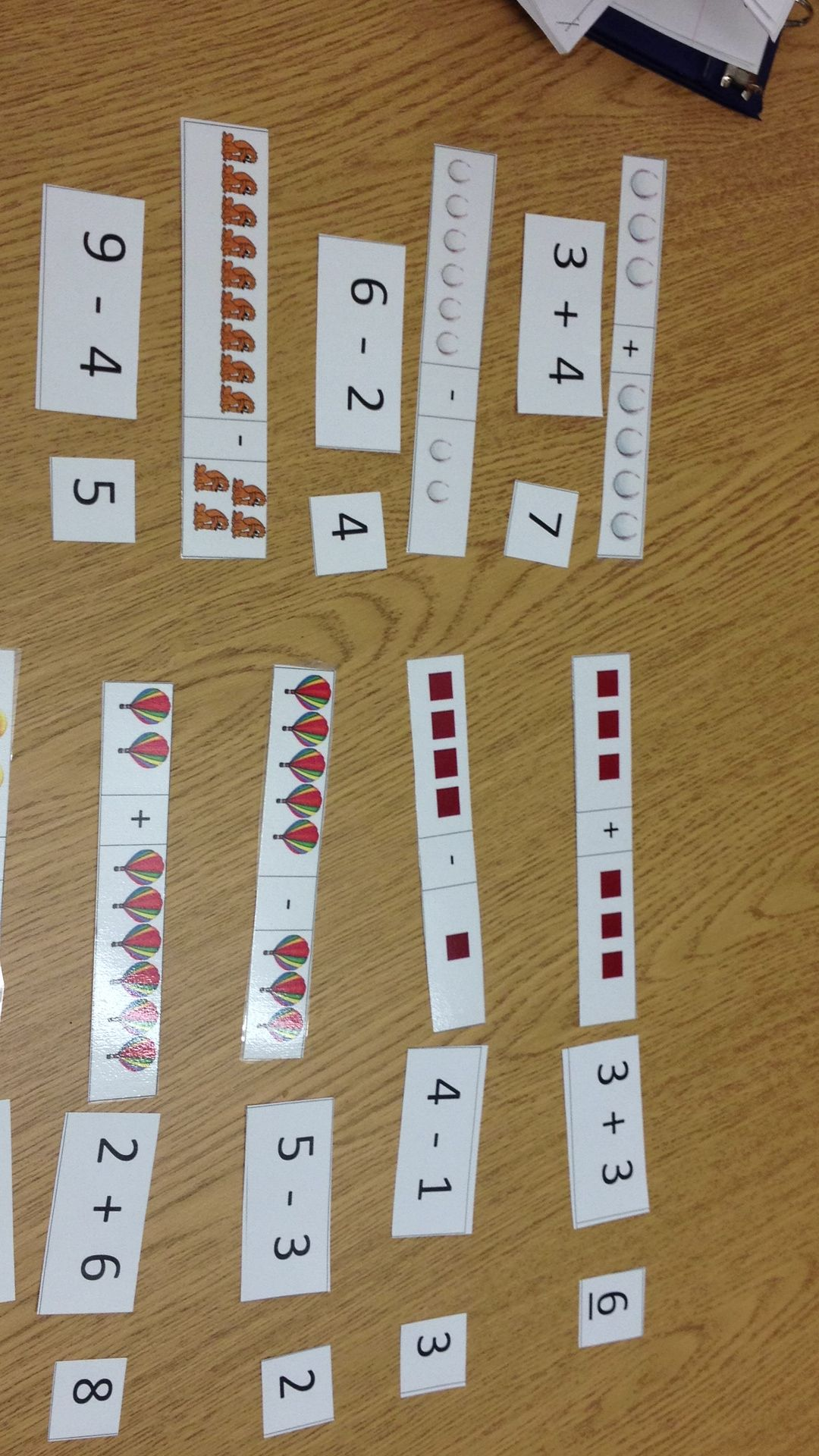 Matching Addition And Subtraction Picture Stories And
