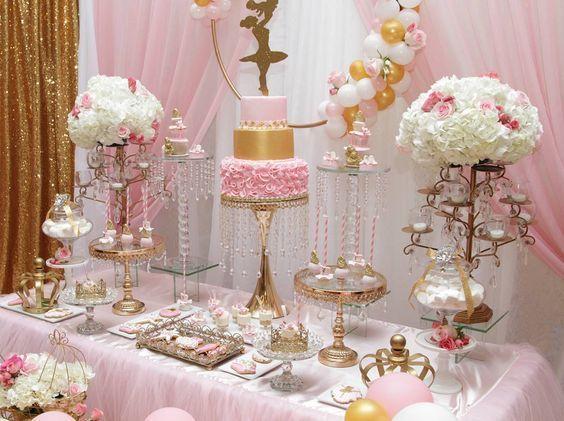 Princess Ballerina Baby Shower  Bebek partisi dekorasyonları