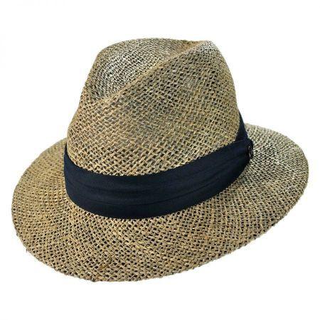 Jaxon Hats Seagrass Safari Fedora Hat  e266c65ab79