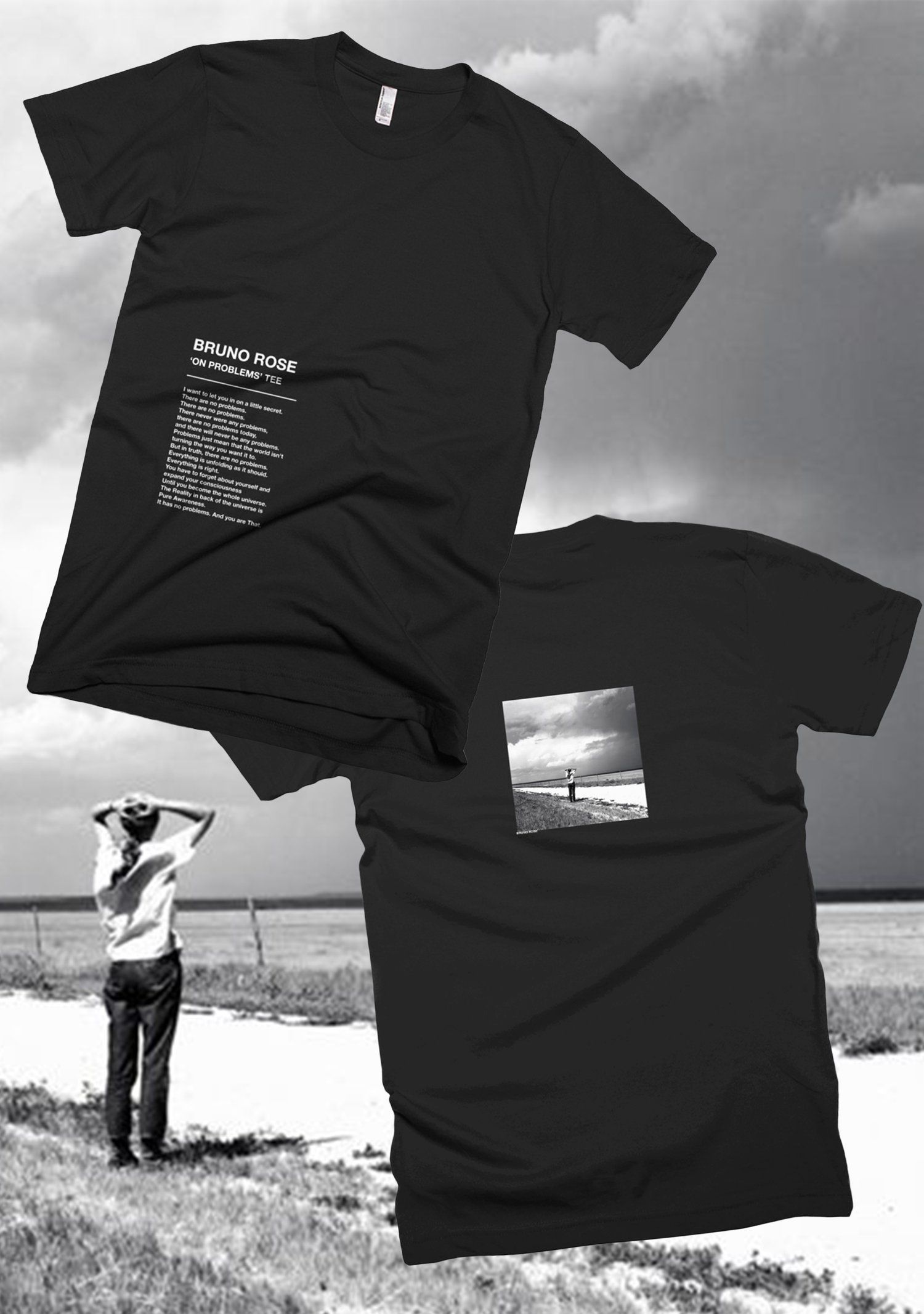 c29bcb3d6d6746 Image of 'ON PROBLEMS' FRONT/BACK TEE Bruno Apparel #streetwear #tshirts