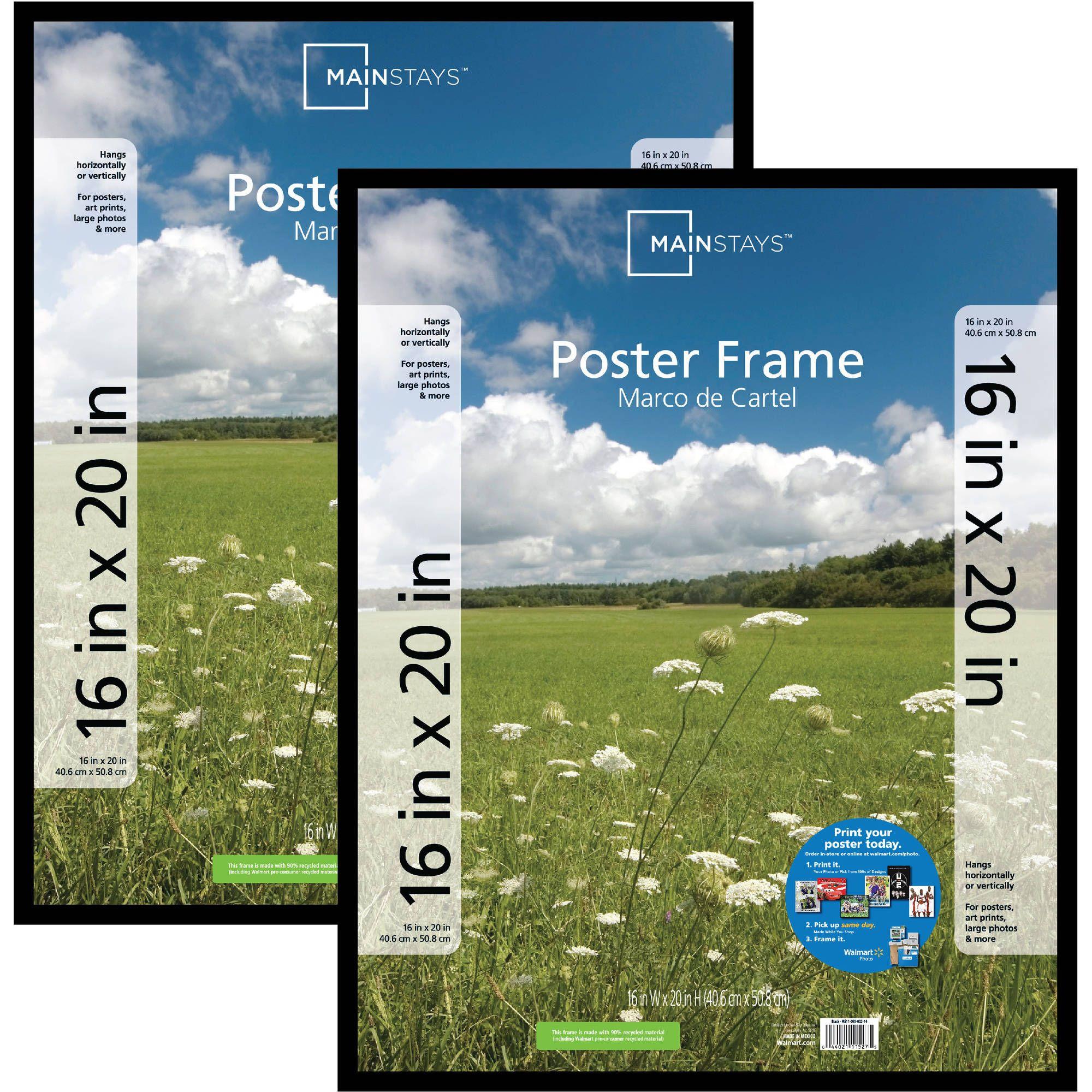 Mainstays Plastic Picture Frames Black Set Of 2 Walmart Com Poster Frame Plastic Picture Frames White Picture Frames