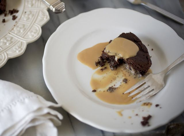 Warm Chocolate Pudding Cake with Caramel Creme Anglaise, Day 4: Irenes Beans