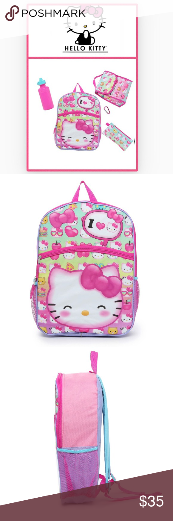 77f60c0a8 Hello Kitty 5-Piece Backpack Set🆕 Gear up with all the school essentials