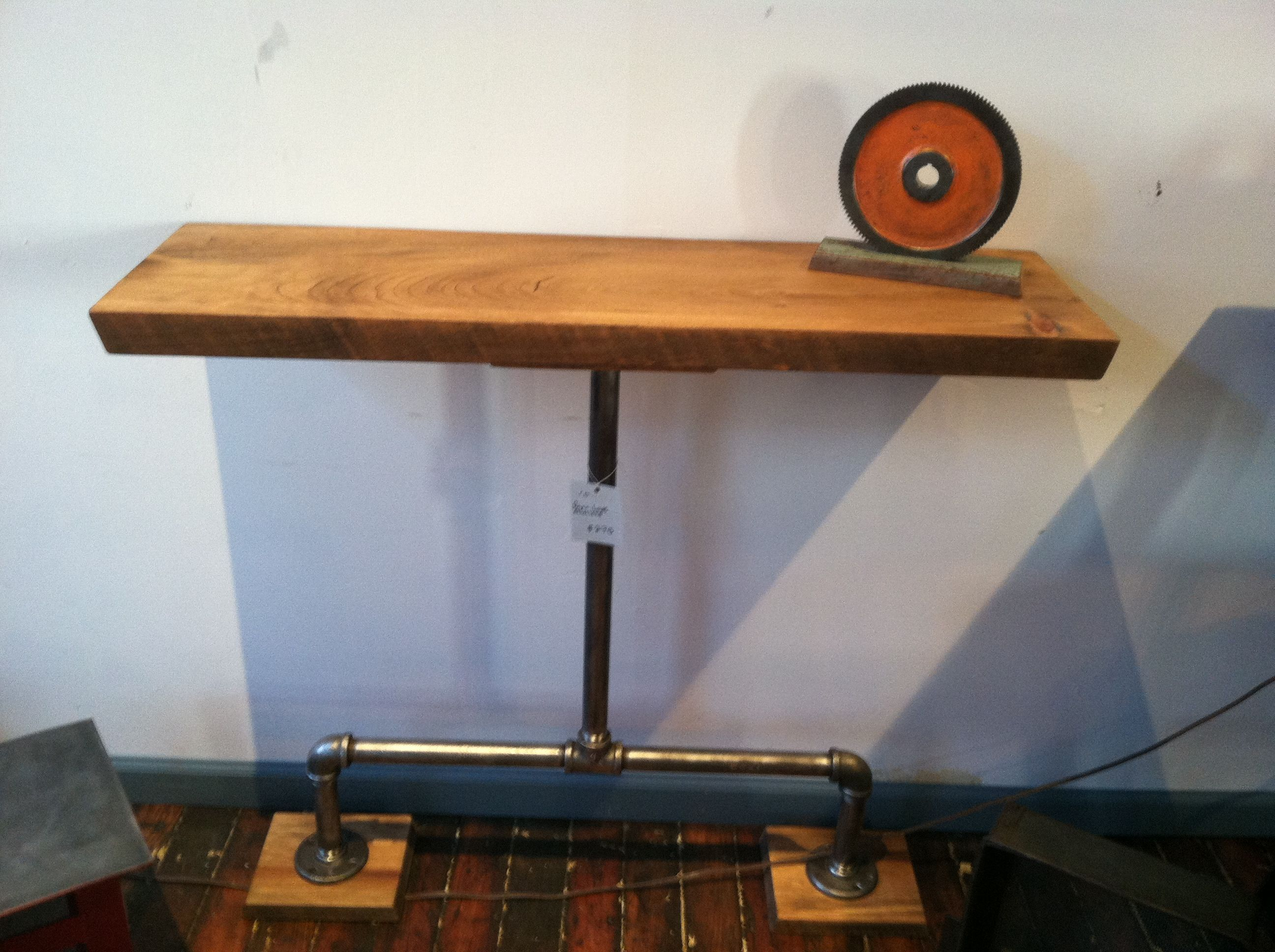 Hall Table from reclaimed wood and vintage water pipes. RLP ...
