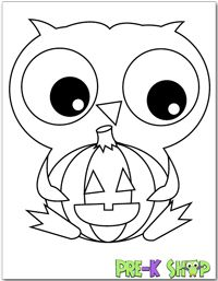Coloring Pages Halloween Owl