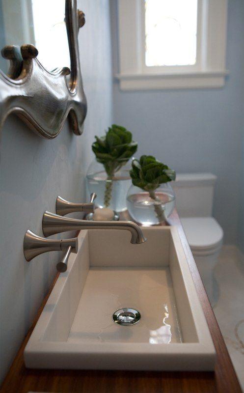 Modern Small Powder Room Design Ideas Narrow Bathroom