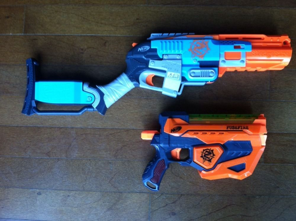 item 6 Nerf Zombie Strike Sledgefire Blaster Gun 3 Shells 17 Darts -Nerf  Zombie Strike Sledgefire Blaster Gun 3 Shells 17 Darts