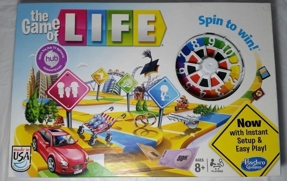 The Game Of Life Board Game Mint Complete With Instructions Life