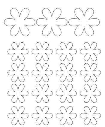 small flower template birthday flower template flower crafts