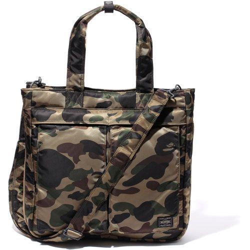 A Bathing Ape Bape Women Carrying Handbag Handle Shopping Travel Tote Canvas Bag