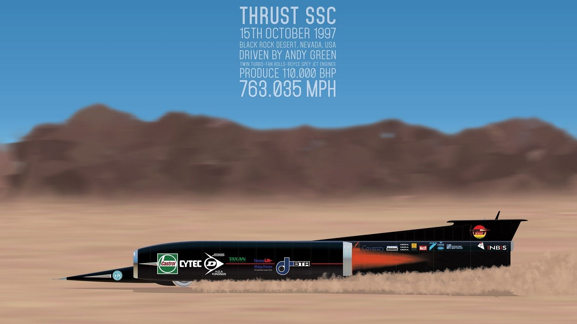 Thrust SSC\'. Fastest Car in The World Ever Made. | salt&speed ...