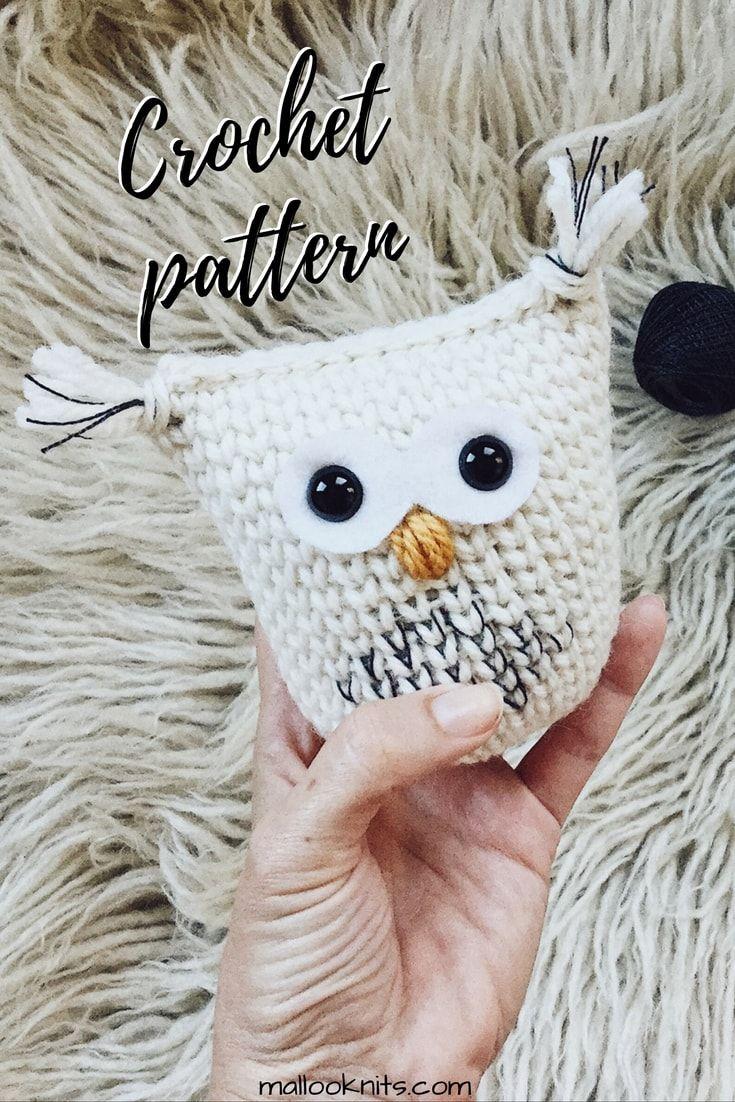 Crochet snow owl christmas ornament | Adornos navidad, Tejido y Adornos