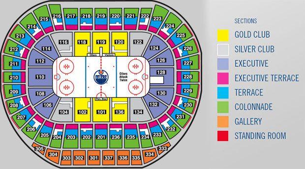 Edmonton oilers seating chart also rh pinterest