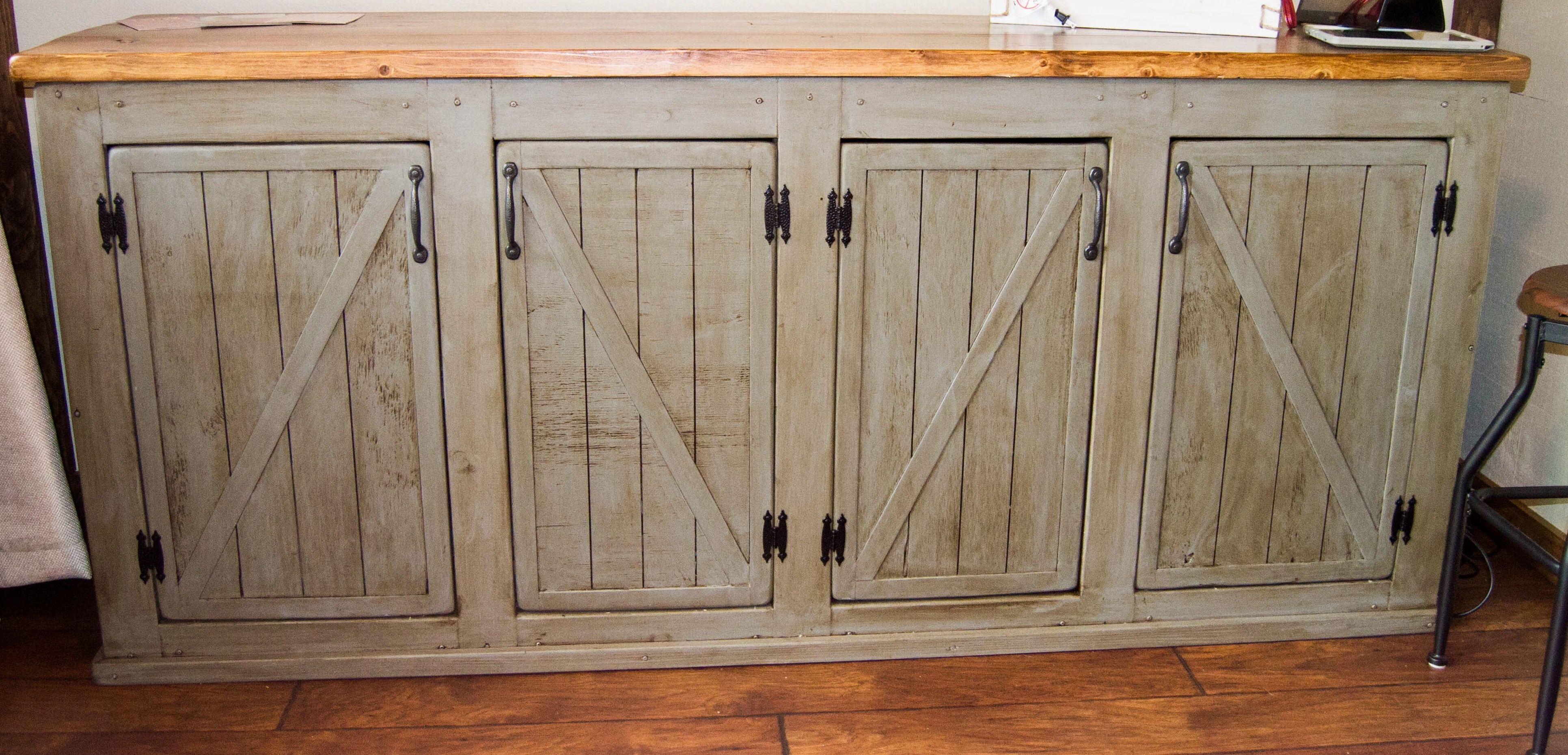 Barn Door Cabinet Sliding Doors Kitchen Rustic