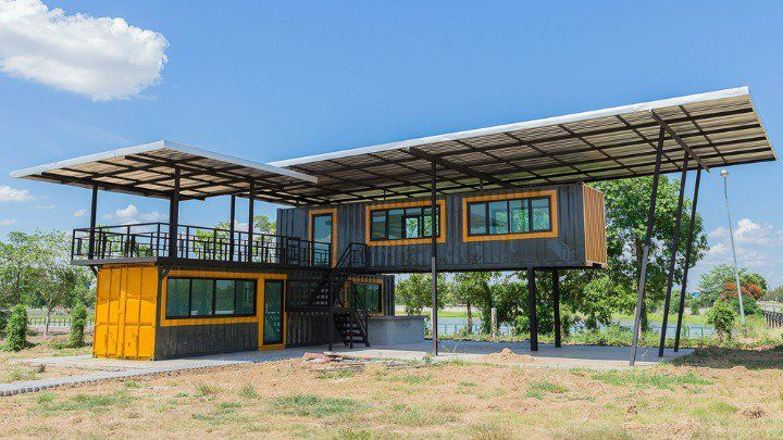 Funky House In Nz House Design Container Buildings Shipping