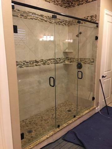 Use Double Doors In Your Shower If You Have Two Shower Heads Or A Large Opening This Diy Bathroom Remodel Affordable Bathroom Remodel Simple Bathroom Remodel