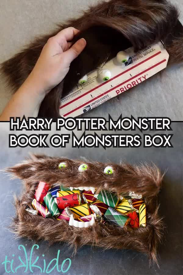 Photo of Make this Harry Potter Monster Book of Monsters box to hold your candy this Hall…