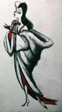 Marc Davis Designs for Cruella de Vil