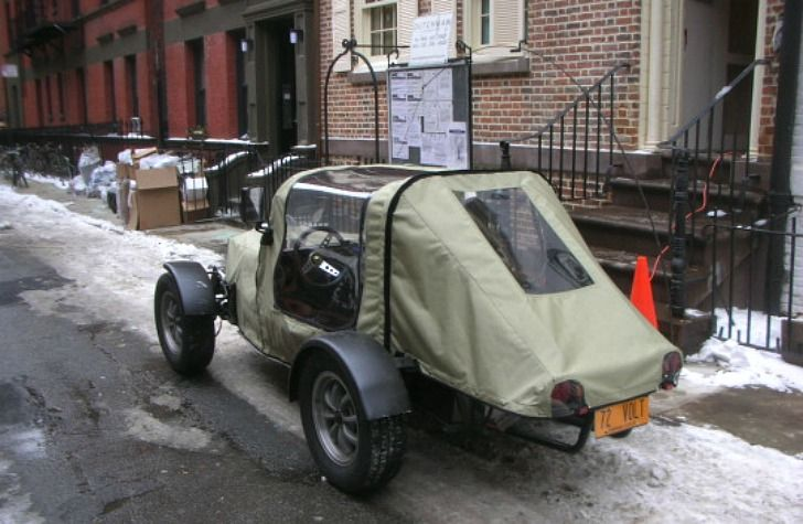 industrious manhattan man drives to work in homemade electric rh pinterest co uk