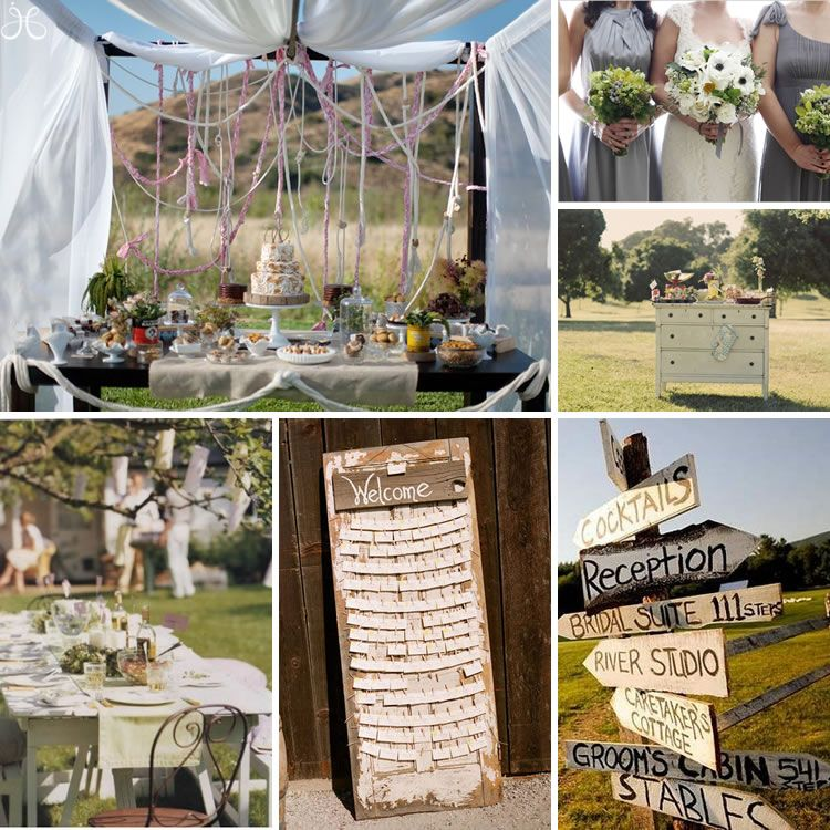 shabby chic outdoor wedding inspiration projects to try shabby rh pinterest com