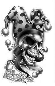 scary clown tattoos google search tattoo ideas pinterest rh pinterest co uk evil jester tattoo designs Evil Tattoo Patterns
