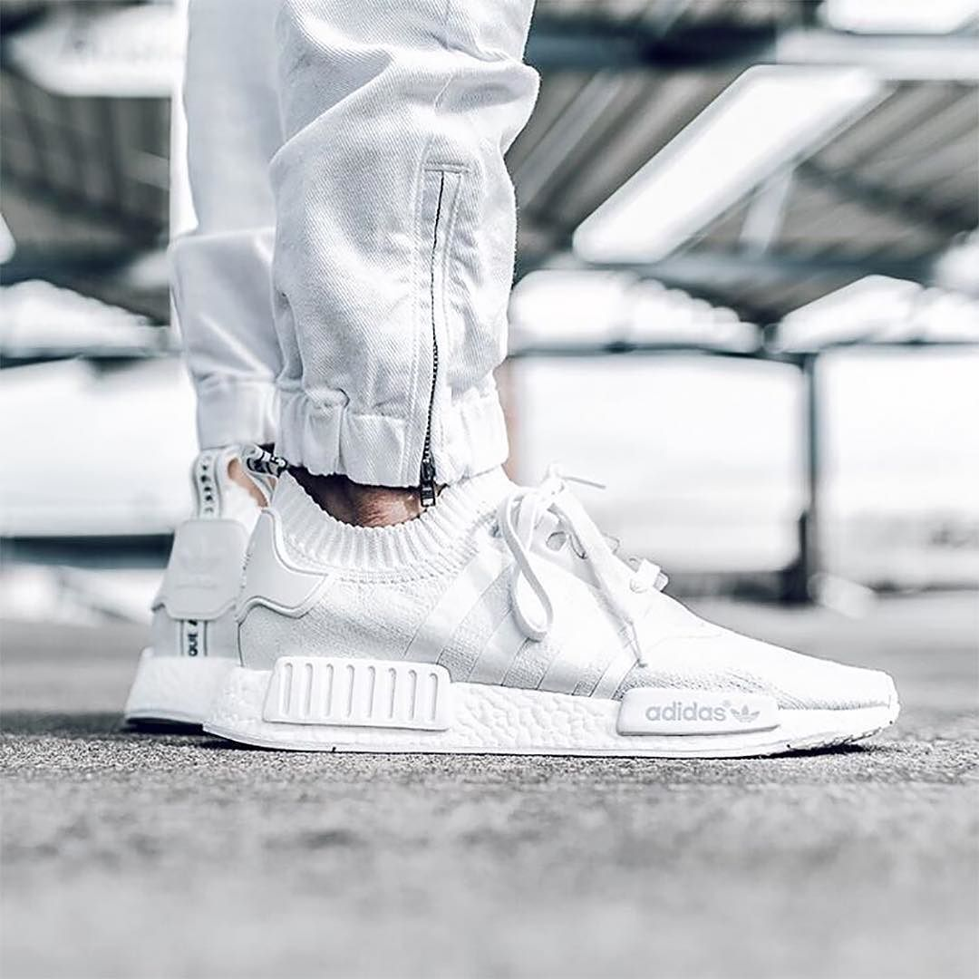 hypefeet   adidasoriginals Triple White Primeknit NMDs. Photo    sergiujurca by hypebeast 74d39a0c8732