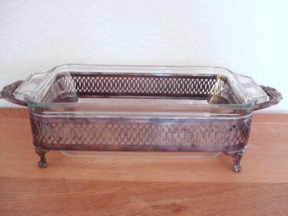 Vintage Silver Plated Loaf Bake Dish Stand Holder By Npebaysale