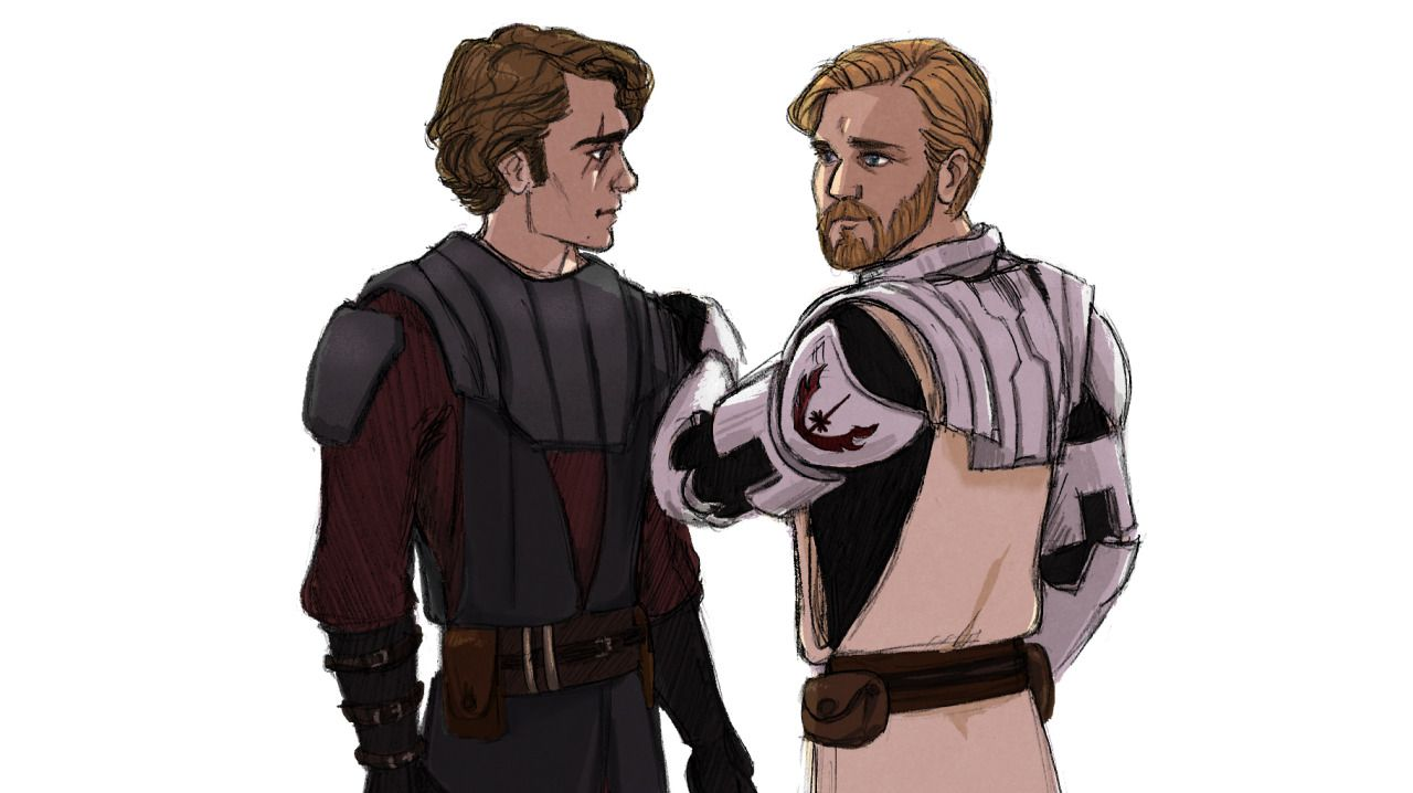 My brother anakin skywalker obi wan kenobi ten years - Dessin stars wars ...